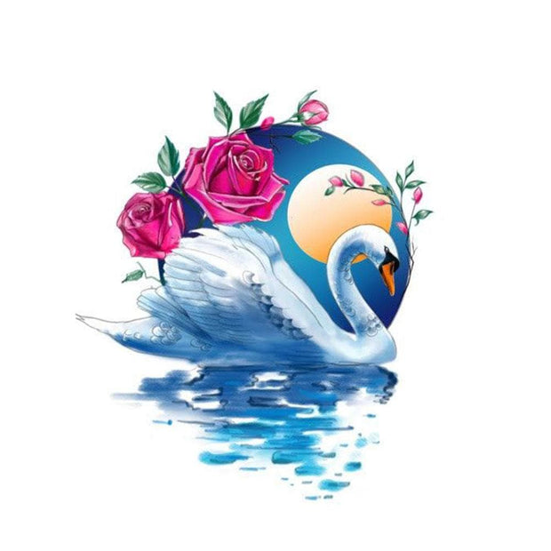 Swan with Rose