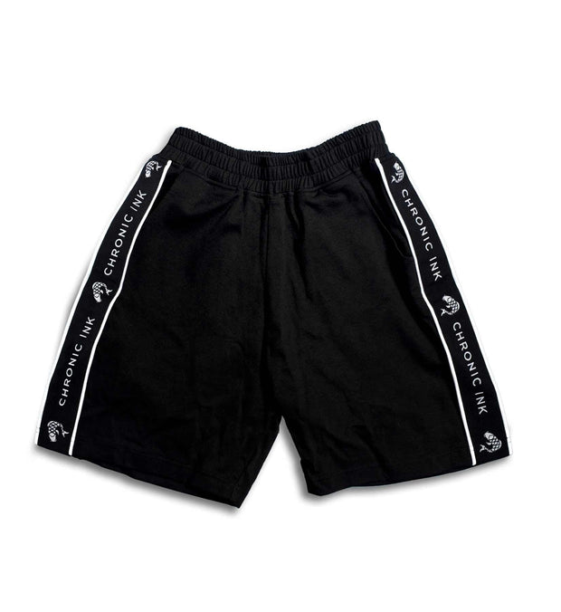 Chronic Ink Logo Band Classic Shorts - Black