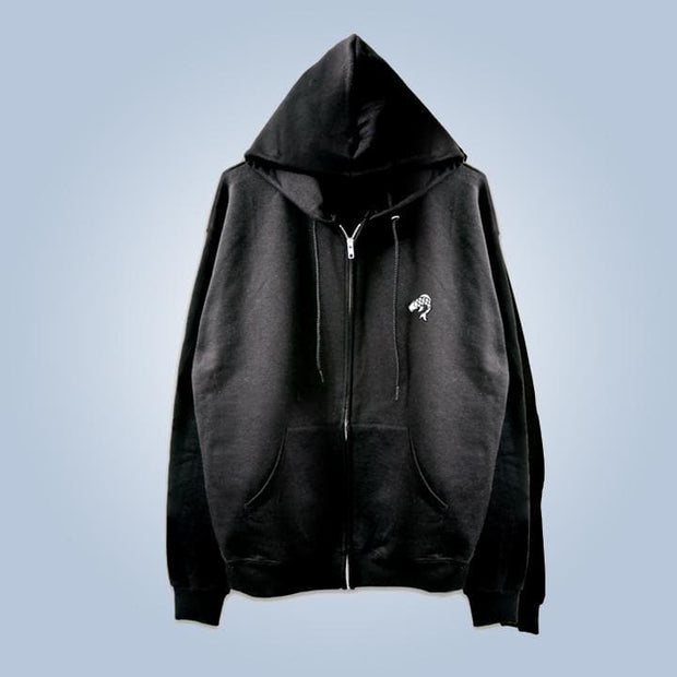 Champion x Chronic Ink Classic Logo Zip Hood - Black