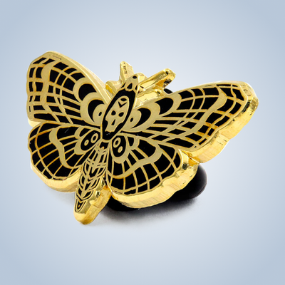 Chronic Ink Artist Series Enamel Pin - Moth
