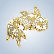 Chronic Ink Artist Series Enamel Pin - Goldfish