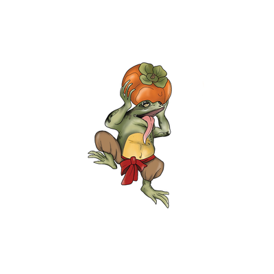 Frog With Persimmon