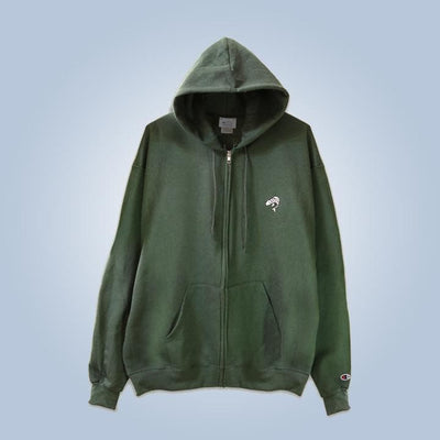 Champion x Chronic Ink Classic Logo Zip Hood - Dark green