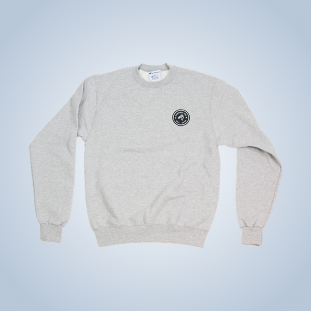 Champion x Chronic Ink 10 Years Badge Pullover Crew - Grey