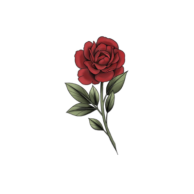 Stem Rose (Red)