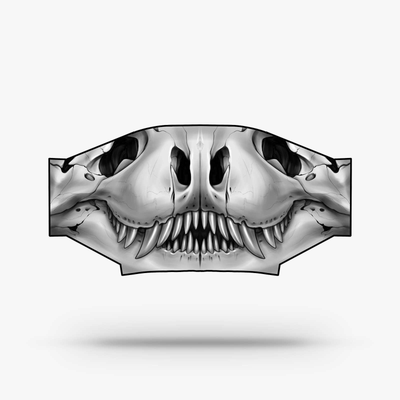 Polyester Face Mask - Dino Skull by Lennon