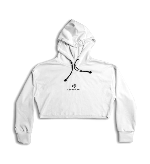 Chronic Ink Women's Cropped Hoodie - Cream