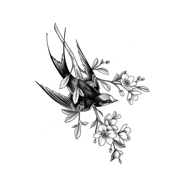 Swallow with Cherry Blossoms