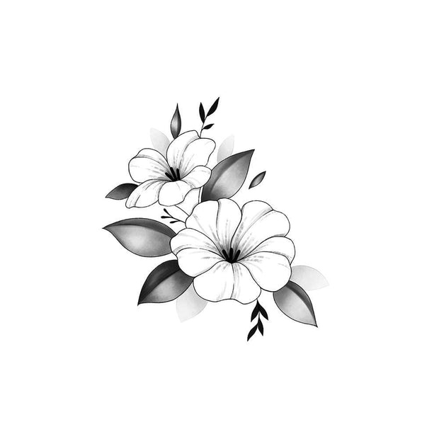 Two Small Floral with Shading