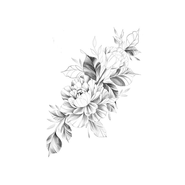 Peony with Florals