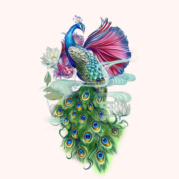 Peacock with Rumble Fish