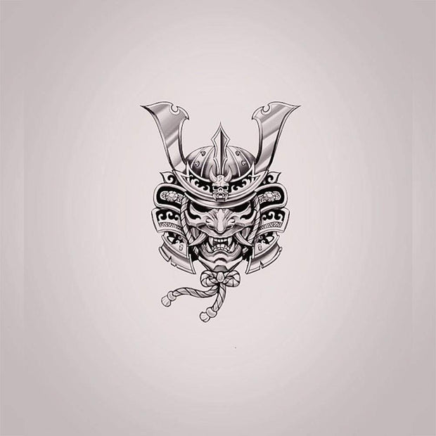 Samurai Helmet with Hannya Mask