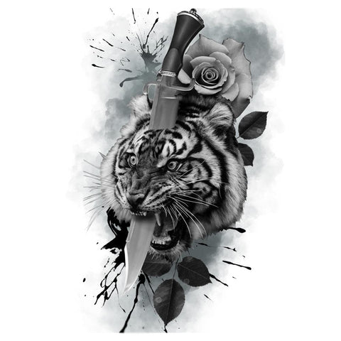 Tiger with Dagger and Rose