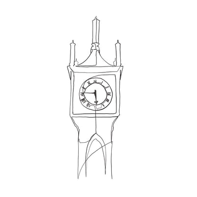 Linework Tower Clock