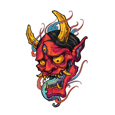 Hannya with Flames #2