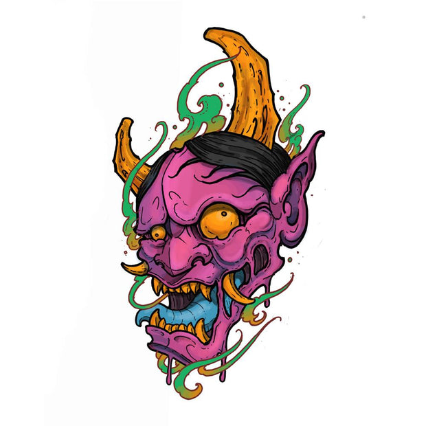 Hannya with Flames