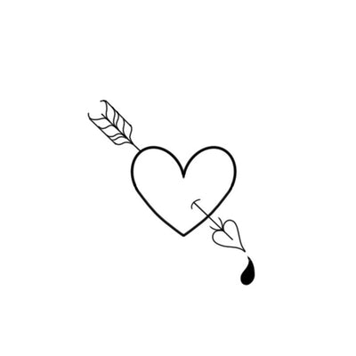 Cupids Arrow Heart