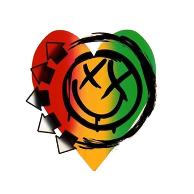 Blink 182 - Red Yellow Green Smiley Heart
