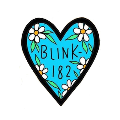 Blue Blink 182 Heart