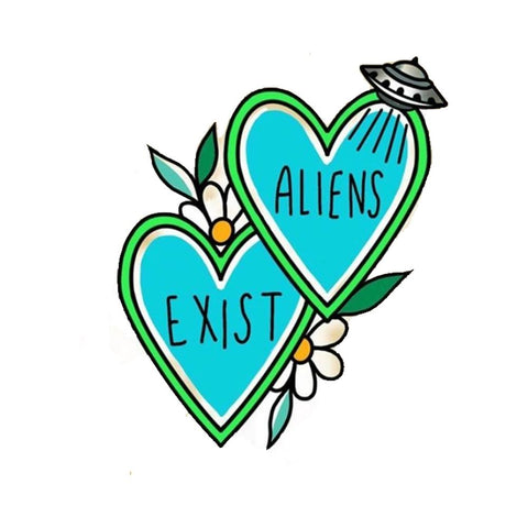 Alien Exists Hearts