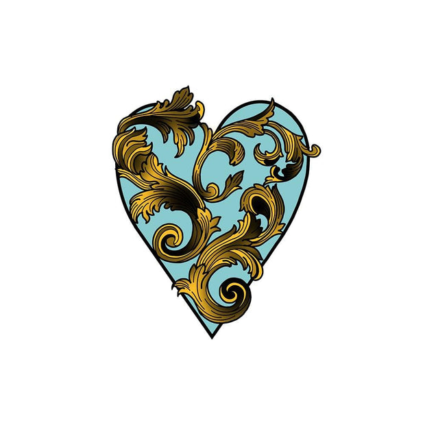 Blue Filigree Heart