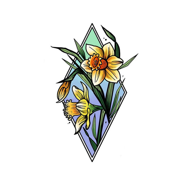 Daffodils in Ombré colored diamond