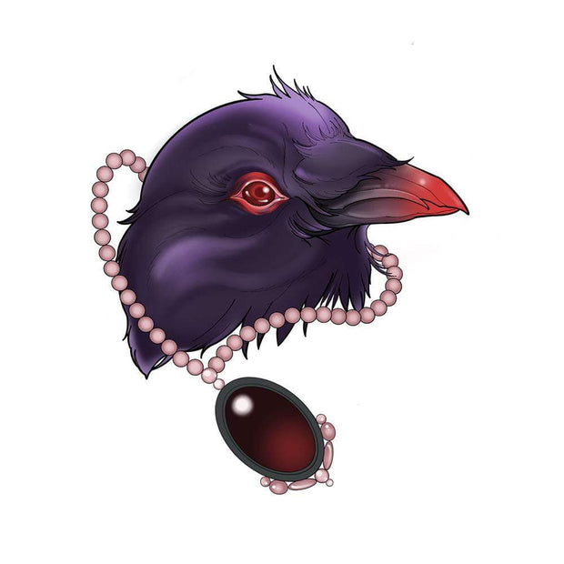 Raven Head with Necklace