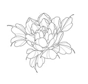 Peony chest or back piece