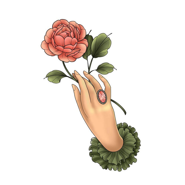 Hand with English Rose