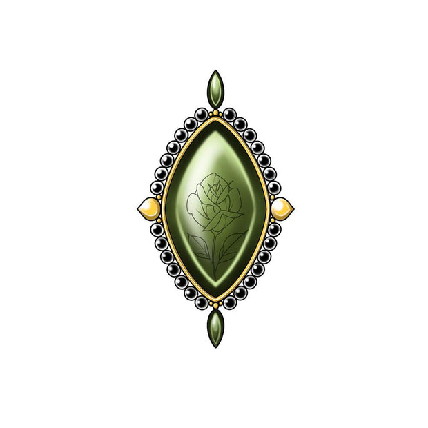Emerald Brooch