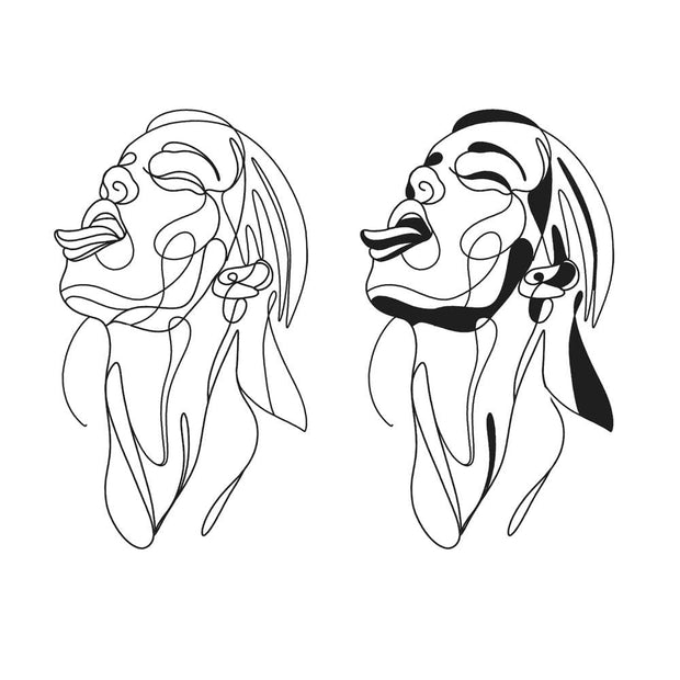 Line Work Portrait - Tongue