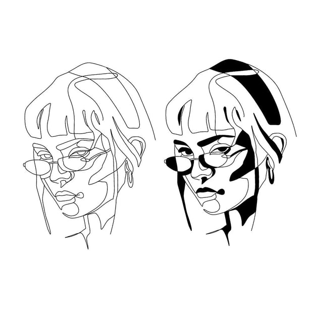 Line Work Portrait - Glasses
