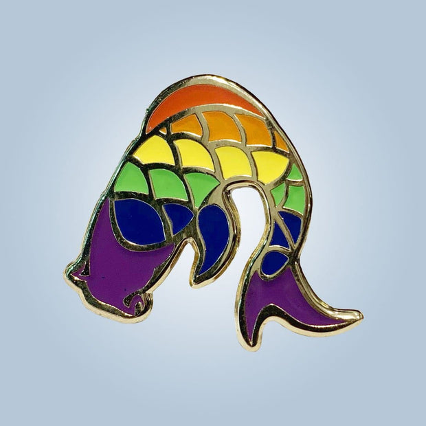 Chronic Ink Enamel Pin - Pride Rainbow Koi