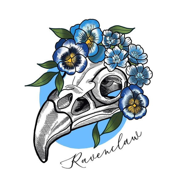 Ravenclaw Eagle Skull and Floral piece