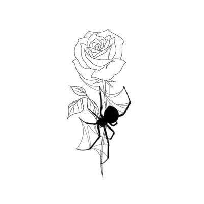 Rose with hanging spider #2
