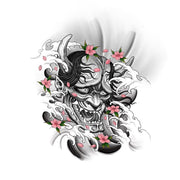 Hannya Mask with Waves