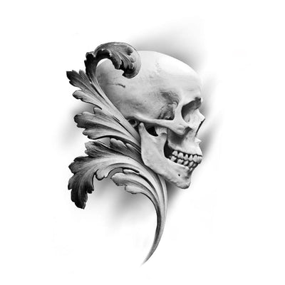Skull with filigree