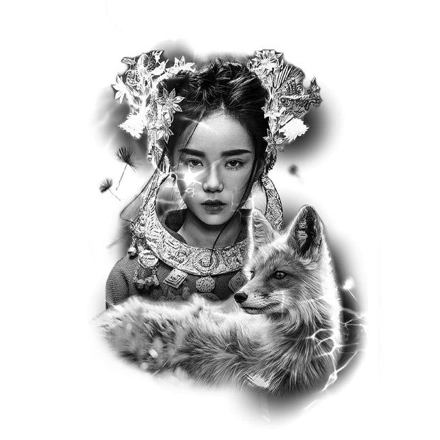 Geisha with Fox