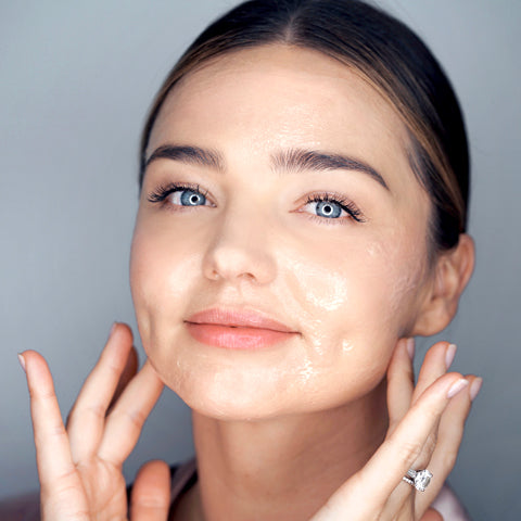 Miranda Kerr with Noni Glow Sleeping Mask