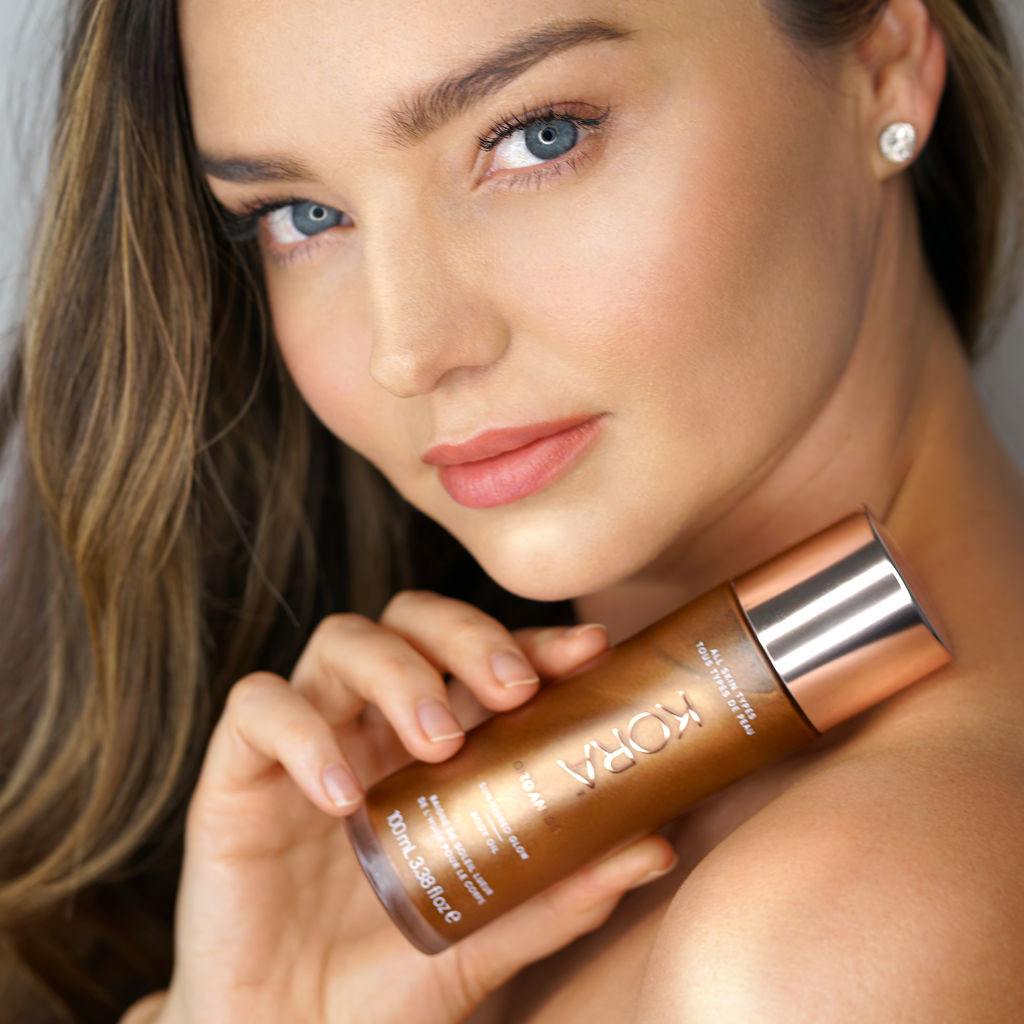 """I love the way this shimmering body oil makes my skin glow all over. I especially like to use it on my legs – it gives me a boost when I need a little extra colour."" - Miranda Kerr, Founder & CEO"