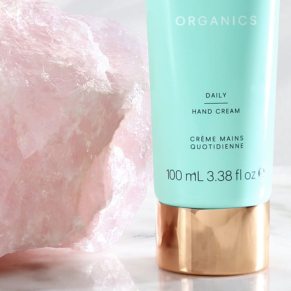 Daily Hand Cream 100mL, A rich, soothing and replenishing hand cream formulated to rehydrate hands and cuticles. KORA Organics