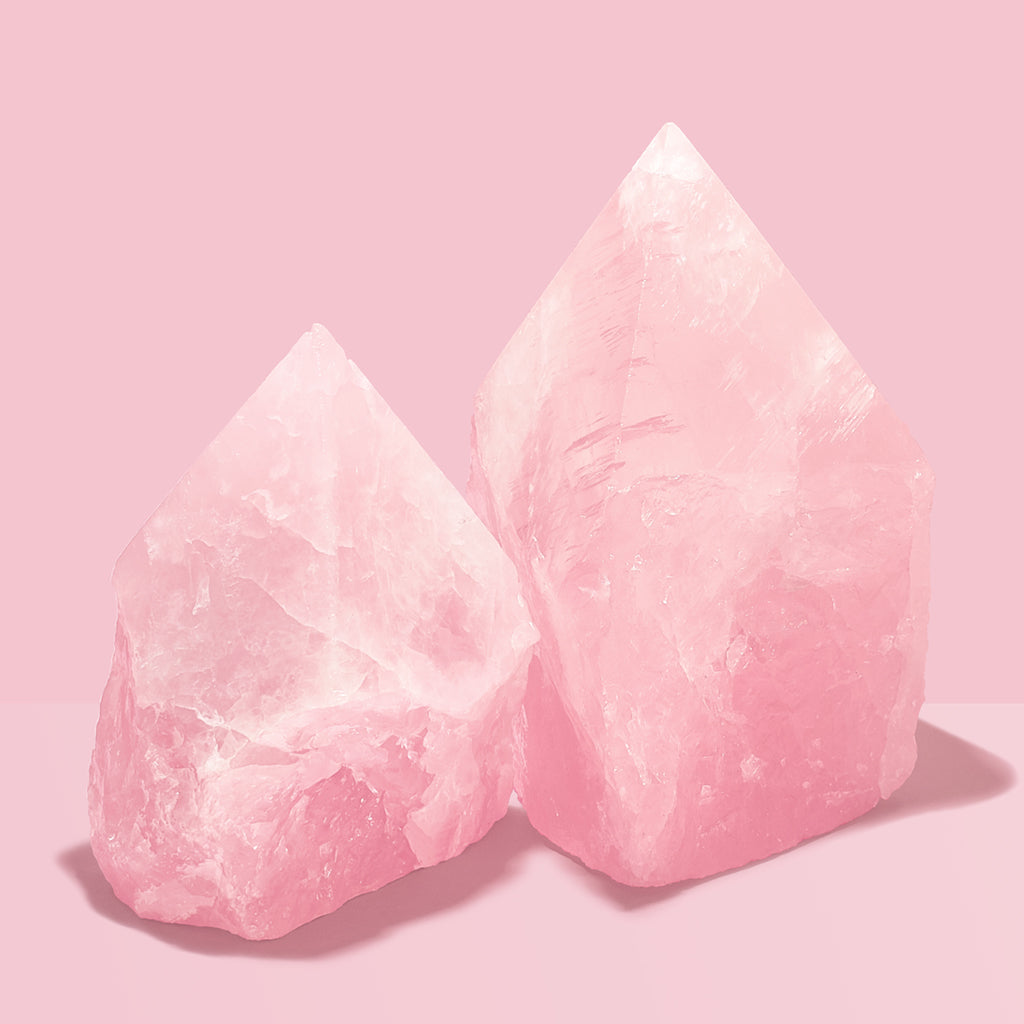 Rose Quartz Points Small & Large. ROSE QUARTZ supports: Love, Happiness, Healing, Intuition.