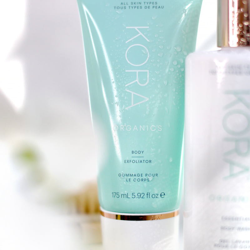 "Body Exfoliator 175mL - ""I like to use this exfoliator in the shower every other day. It makes my skin feel silky-smooth and glowing all over."" – Miranda"