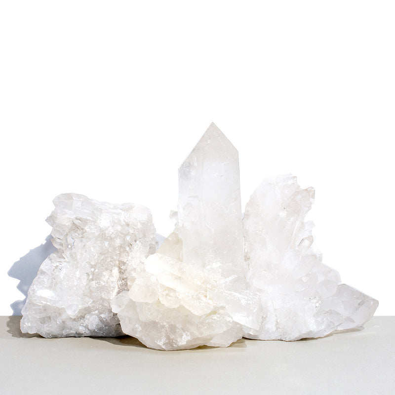 Naturally Raw Clear Quartz Crystals
