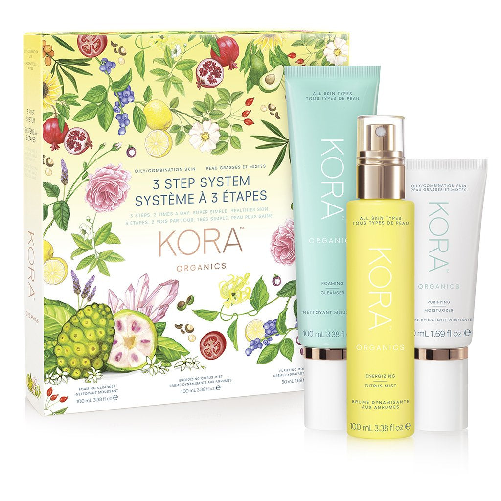 3 Step System - Oily/Combination Skin - Foaming Cleanser 100mL Energizing Citrus Mist 100mL, Purifying Moisturizer 50mL