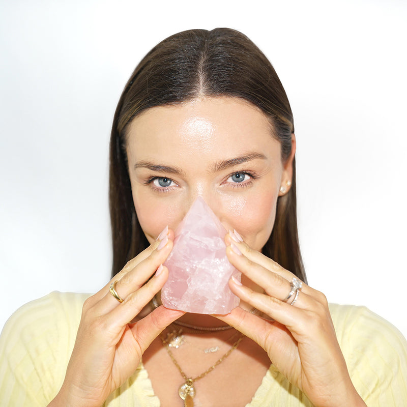 Miranda LOVES...crystals, especially Rose Quartz, which is used and infused throughout the entire KORA Organics skincare range.