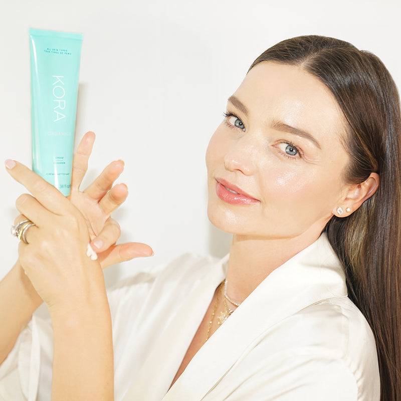 """I especially reach for this cleanser after a long day at a photoshoot or event. It helps remove heavy makeup and leaves my skin feeling so soft and clean."" – Miranda Kerr, Founder & CEO KORA Organics on the Cream Cleanser 100mL"
