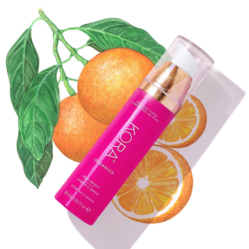 Noni Bright Vitamin C Serum 30mL. Certified Organic Vitamin C Serum to brighten and even skin tone.