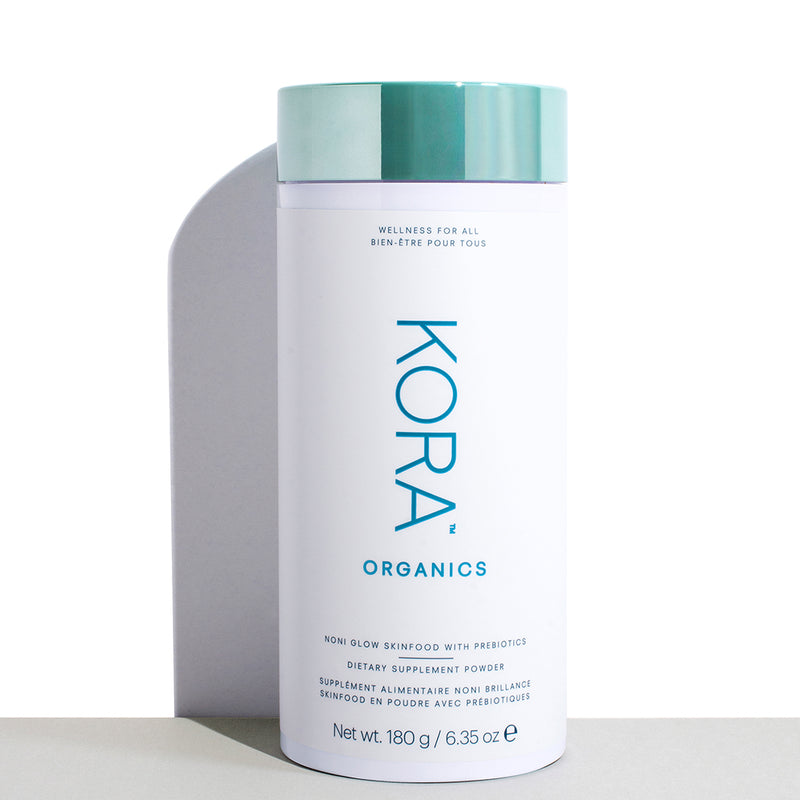 Noni Glow Skinfood Dietary Supplement Powder - 180g Jar. A potent, certified organic, nutrient-dense superfood supplement for your daily beauty and wellness benefits, inside & out. KORA Organics