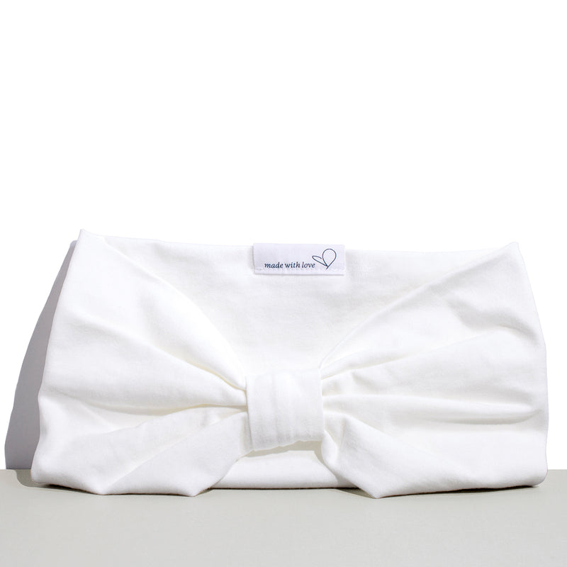 ORGANIC COTTON HEADBAND WHITE